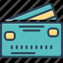 card, cashless, commercial, credit, deposit, payment, transaction