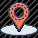 destination, direction, location, mark, navigation, place, travel