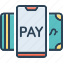 cash, check, currency, electronic, online, payment method, transaction icon
