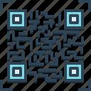 bar code, biometric, digital, electronic, qr code, scan, technology icon
