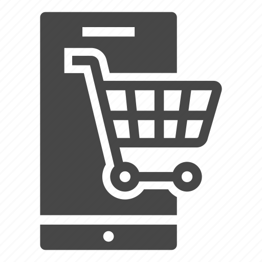 cart, mobile phone, online shopping, phone, shopping, smartphone icon