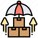 cargo, insurance, package, product, protection icon