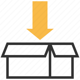 arrow, packing, sign, traffic, warning icon