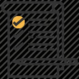 check, checklist, list, menu, survey icon