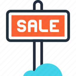 advertising, board, commerce, promotion, retail, sale, sign icon