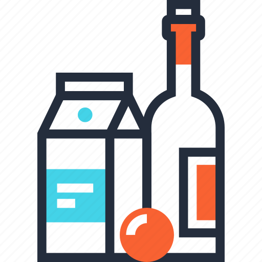 beverage, bottle, drink, food, goods, shopping, wine icon