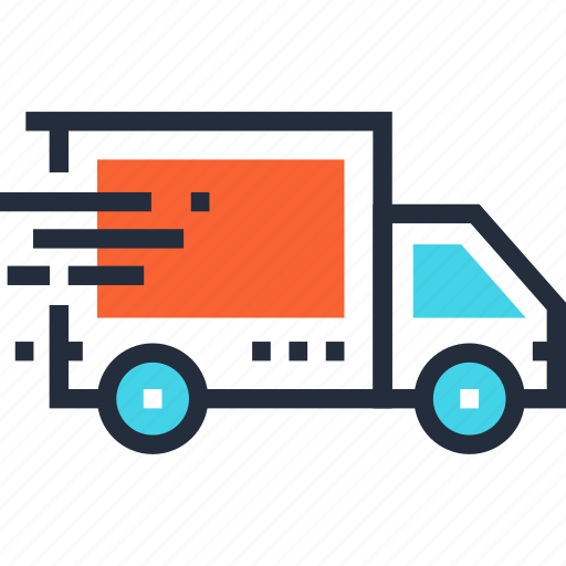 car, delivery, fast, logistics, transportation, truck, vehicle icon