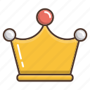 business, crown, gold, shopping, winner icon
