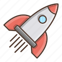 business, launch, retail, rocket, shopping, space icon