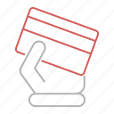 card, hand, payment, shopping icon