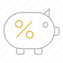bank, banking, finance, piggy, savings icon