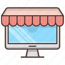 business, market, monitor, shopping, store icon