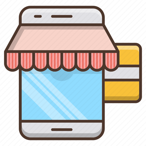 business, mobile, payment, shopping, smartphone, store icon