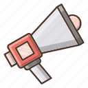 advertise, business, shopping, speaker icon