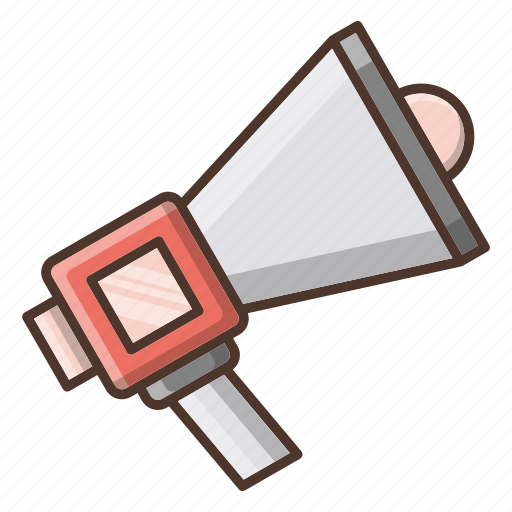 advertise, business, shopping, speaker icon