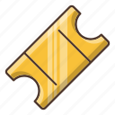 business, gold, shopping, ticket, travel icon