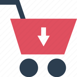 arrow, cart, down, online, point, sale, shopping icon