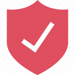 check, mark, ok, online, sale, shield, shopping icon