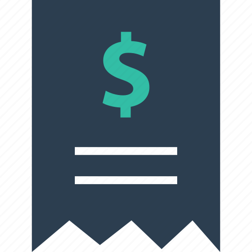 dollar, note, online, receipt, sale, sales, shopping icon