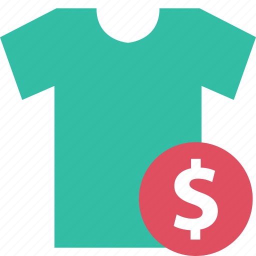 dollar, online, sale, shirt, shopping, sign, t icon