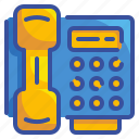 call, offfice, phone, telephone, tools, utensils icon