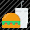 burger, drink, eat, food, restaurant, shopping icon