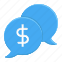 business, chat, ecommerce, finance, money, negotiation, shopping icon