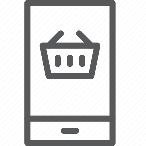 app, basket, mobile, online, shopping, smartphone, store icon