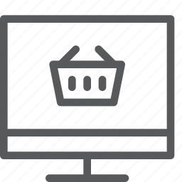 app, basket, computer, imac, online, pc, shopping, store icon