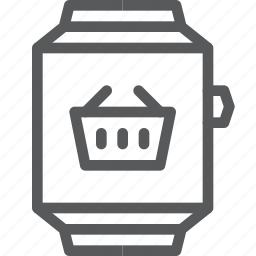 app, basket, online, shopping, smart, store, watch icon