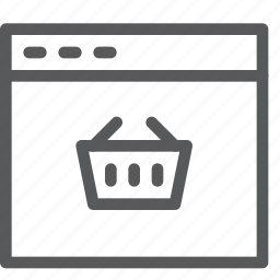 add, app, basket, online, shopping, store, tab, window icon