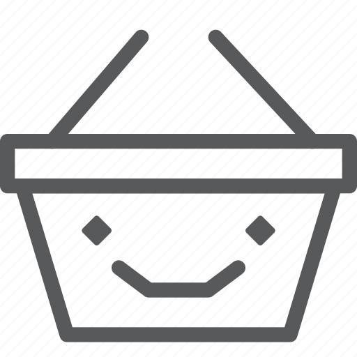 app, basket, happy, online, shopping, smile, store icon