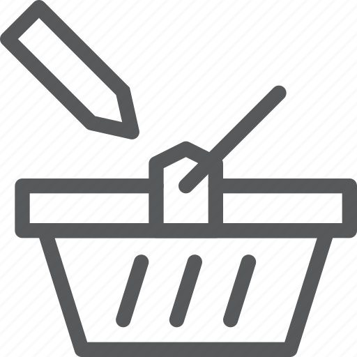 app, basket, online, shopping, store, tag, write icon