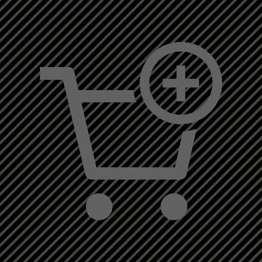 add, cart, new, plus, shopping, shopping cart icon