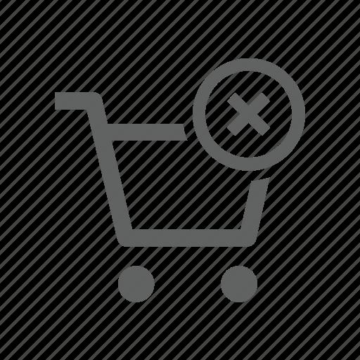 cart, cross, delete, remove, shopping, shopping cart icon