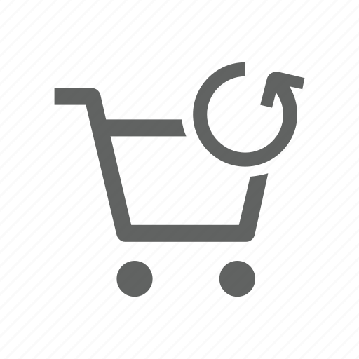 arrow, cart, shopping, shopping cart, sync, synchronize, update icon