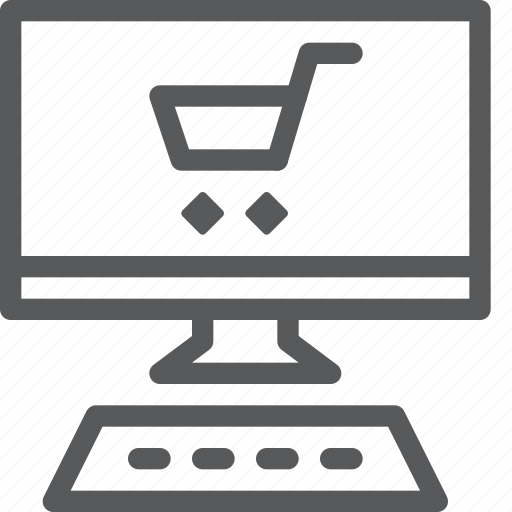 buy, cart, item, pc, purchase, retail, shopping, trolley icon