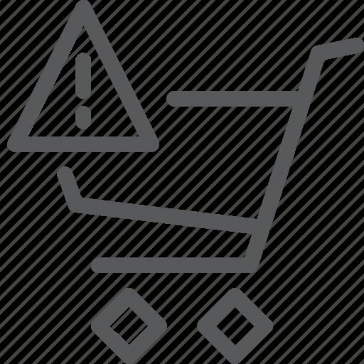 alert, buy, cart, item, purchase, retail, shopping, trolley icon