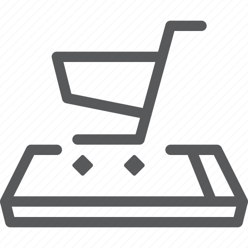 buy, cart, item, mobile, purchase, retail, shopping, trolley icon