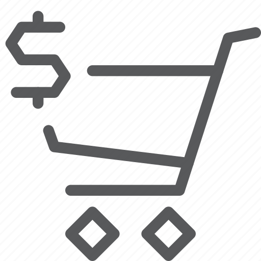 buy, cart, dollar, item, purchase, retail, shopping, trolley icon