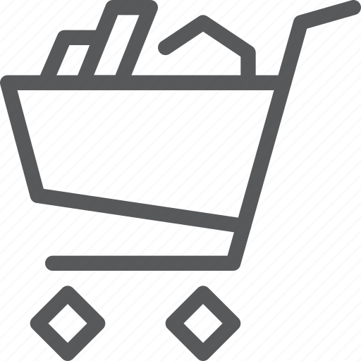 buy, cart, full, item, purchase, retail, shopping, trolley icon