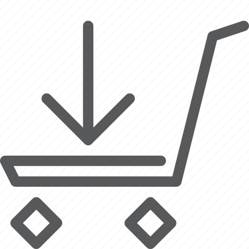 buy, cart, download, item, purchase, retail, shopping, trolley icon