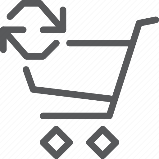 buy, cart, item, purchase, refresh, retail, shopping, trolley icon