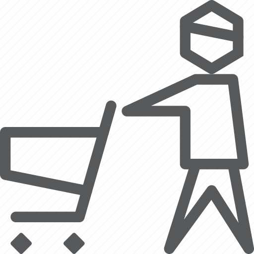 buy, cart, item, purchase, retail, shopping, trolley, user icon