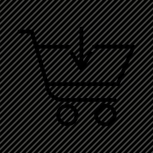 arrow, basket, cart, ecommerce, shop, shopping icon