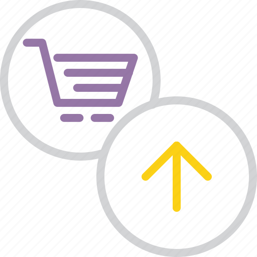 add, basket, business, cart, item, shopping, trade icon