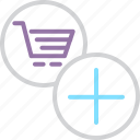 add, business, cart, finance, item, shopping, trade icon