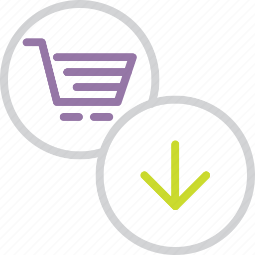 basket, business, cart, clear, item, shopping, trade icon