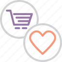 cart, donate, favorite, finance, items, online, shopping icon