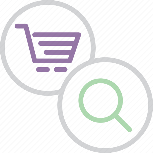 basket, cart, commerce, find, item, search, shopping icon